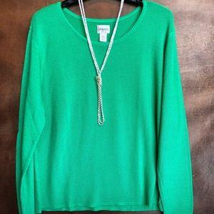 Bright green Chico's sweater